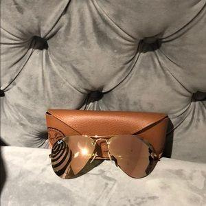 Ray Ban Gold Sunglasses